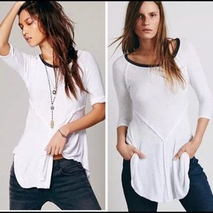 Free People Snow Combo Top